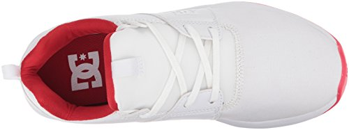 White DC Womens Heathrowia Athletic Lowtop Shoes Txse White Red Shoes 0CqOxwCF4