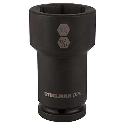 STEELMAN PRO 79331 3/4-Inch Drive Budd Wheel Hex and Square Combo Impact Socket, 1-1/2-Inch x 13/16-Inch ()