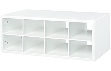 Organized Living FreedomRail 8 Cubby Shoe Storage OBox   White