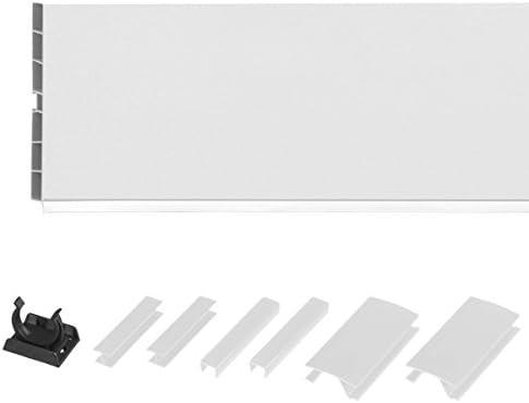 HOLZBRINK Syst/ème de socle HBK15 150 cm plinthe pour meubles de cuisine 150 mm brillance blanche
