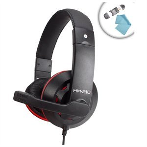 (Tactical Computer Video Game Headset with Microphone & Dynamic Sound for ASUS Republic of Gamers , Toshiba Qosmio , Sony VAIO and More Gaming PC Computers - Includes LCD Cleaning Cloth & SD Memory Card Reader )