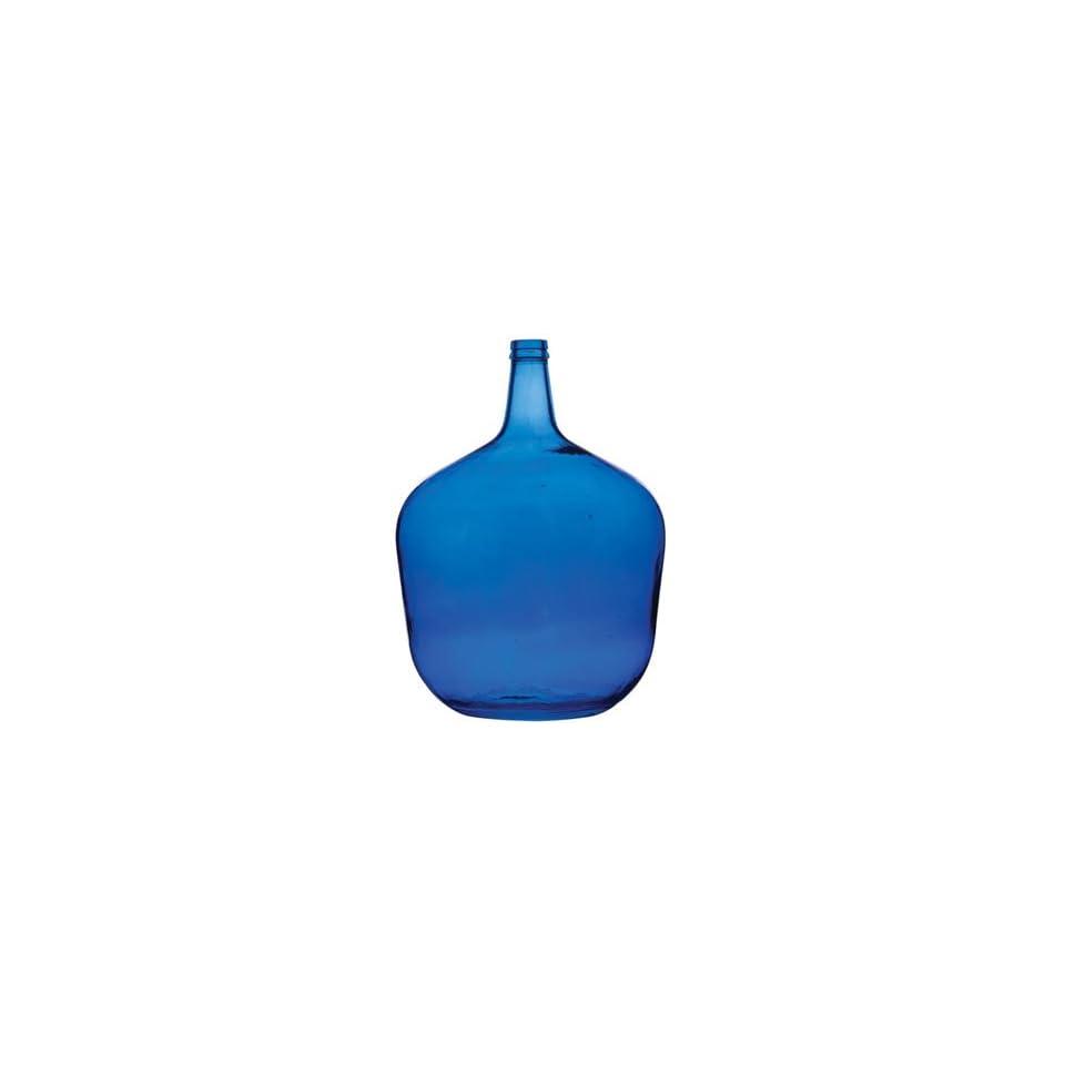 Vietri Recycled Prism Glass Cobalt Blue Bottle