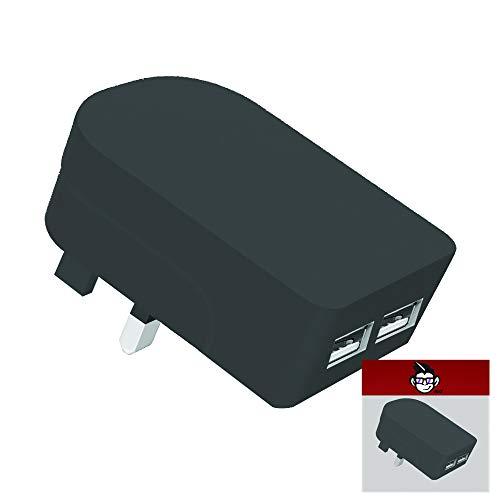 IWIO 3 Foldable Pin UK Plug 2 x USB Ports Mains Charger Adapter Dual 2.1AMP 2100mAh Quick Universal Travel USB Wall…