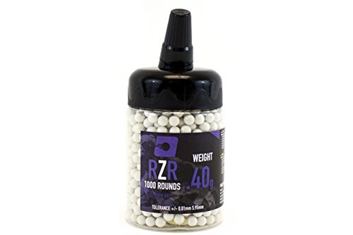 Nuprol RZR 40g Heavy Weight Airsoft Sniper BB'S White