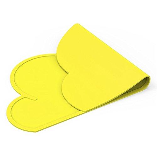 Mantel individual de silicona, esterilla de bebé antibiosis impermeable, forma de nube (Amarillo)