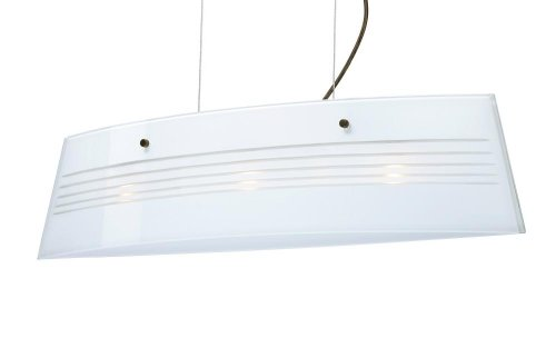 Besa Lighting LS3-445410-BR 3X40W G9 Silhouette 28 Pendant with Opal Cut Glass, Bronze Finish