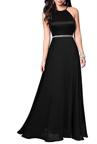 long black maternity bridesmaid dress - 3