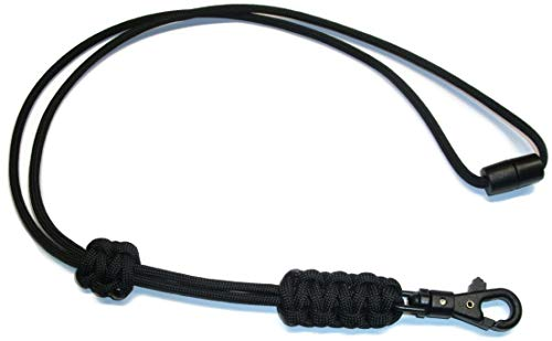 (RedVex Paracord Cobra Neck Lanyard with Safety Break-Away and Adjuster - ABS Clip - Choose Your Color and)