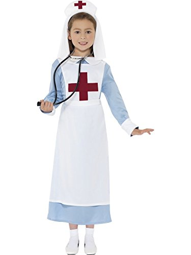Smiffy's Children's WW1 Nurse Costume, Dress, Mock Apron ...