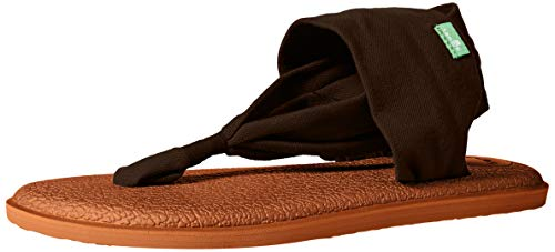 Sanuk Women's Yoga Sling 2 LX Sandal, Chocolate Brown/Metallic/Bronze, 06 M ()