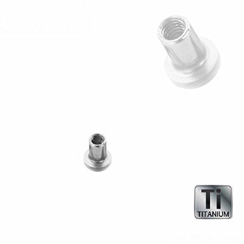 Titan - Mini Dermal Anchor Base - 1,2 mm - ohne Loch (Piercing Aufsatz Surface Implantat Microdermal Hautanker silber)