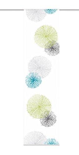 Home fashion 87999-768 Schiebevorhang Digitaldruck Rawlins, Dekostoff Seidenoptik, 245 x 60 cm, grün