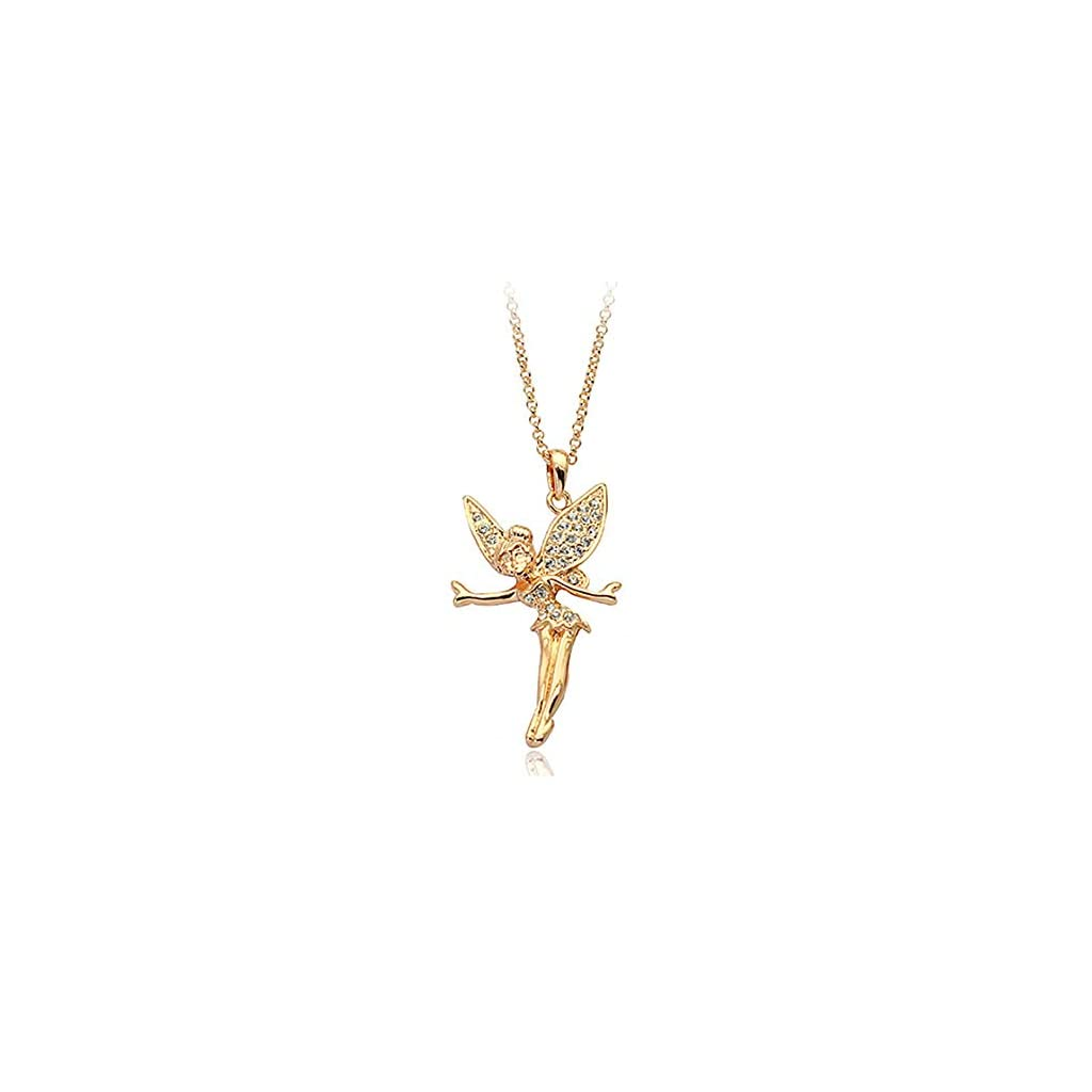 Gold-Plated-Disney-Tinkerbell-Fairy-Wings-Swarovski-Elements-Cubic-Zirconia-Crystal-Pendant-Necklace-Fashion-Jewelry-Gift-for-Girls