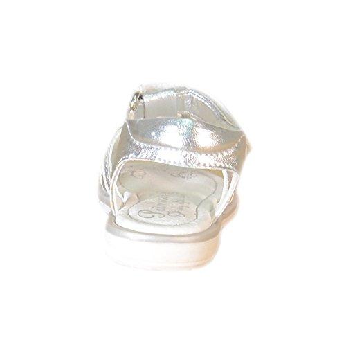 Primigi - Primigi Sandaletti Bambina Argento Pelle Strappi 81623 Silber
