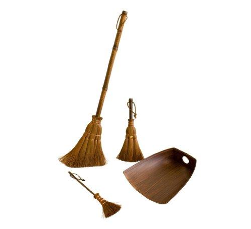 (Big Palm broom, Small broom, Table broom and Dustpan, 4 piece set)
