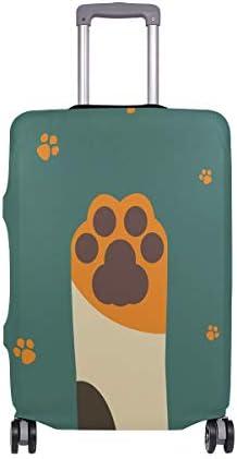 (ソレソレ)スーツケースカバー 防水 伸縮素材 キャリーカバー ラゲッジカバー グリーン 緑 猫爪 可愛い かわいい 猫柄 可愛い おしゃれ 防塵 旅行 出張 便利 S M L XLサイズ
