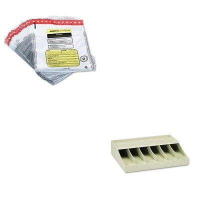 KITMMF210470089MMF2362011N06 – Value Kit – MMF Tamper-Evident Deposit/Cash Bags (MMF2362011N06) and MMF Bill Strap Rack (MMF210470089)