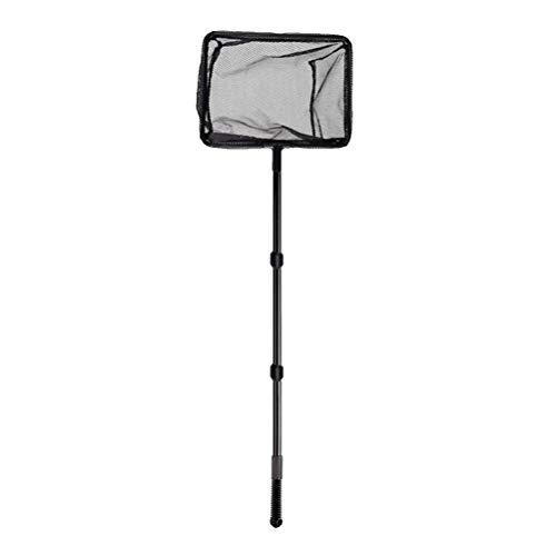 POPETPOP Extendable Fishing net Plastic Pole Handle Telescopic Landing net Tuck net for Fish Tank Lakes Ponds (Size l) ()