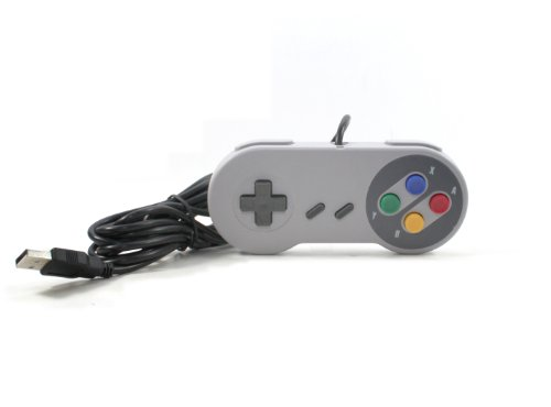 Gtron USB SNES Classic Famicom Controller 9FT Cord for PC/MAC - PC Mac Linux