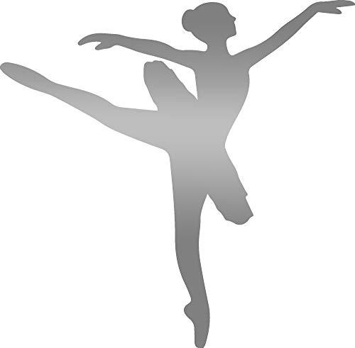 - ANGDEST Ballerina Silhouette (Metallic Silver) (Set of 2) Premium Waterproof Vinyl Decal Stickers for Laptop Phone Accessory Helmet Car Window Bumper Mug Tuber Cup Door Wall Decoration
