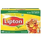 Lipton Beverage Tea Bags Decaffeinated Specially Blended Iced Brew - 12 Pack