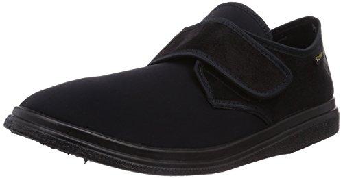 Fischer Bequem Schuh Unisex-Erwachsene Flache Hausschuhe Schwarz (schwarz 222)