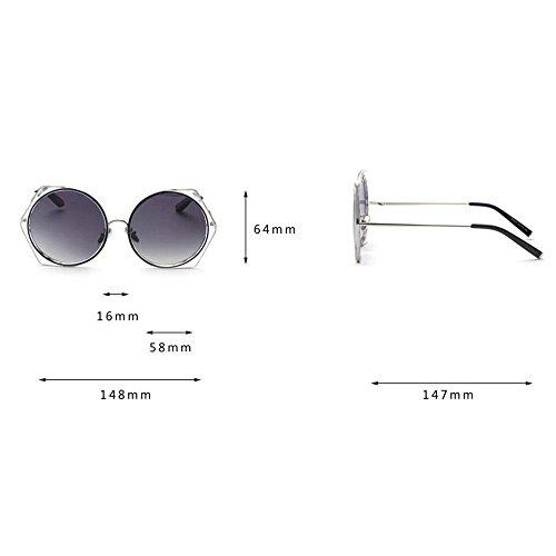 De Frame Sol Hombres Summer Redondas Gafas Blue Sol WANGKEAI De Poligonales De Sunglasses Cool 4 1 Metla Gafas Moda xnWaxRwpq