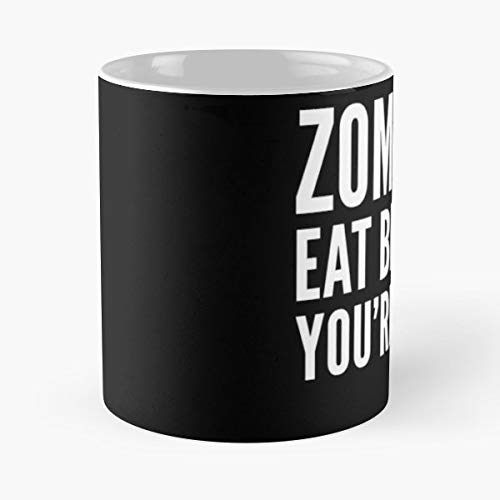 Brains Dumb Easy Costume Eat - 11 Oz Coffee Mugs Unique Ceramic Novelty Cup, The Best Gift For Halloween.