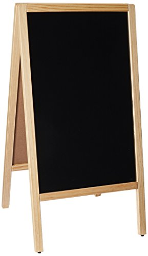 Winco MBAF-1 Sidewalk Markerboard with Natural Wood A-Frame, 39.5 by 20.25-Inch ()