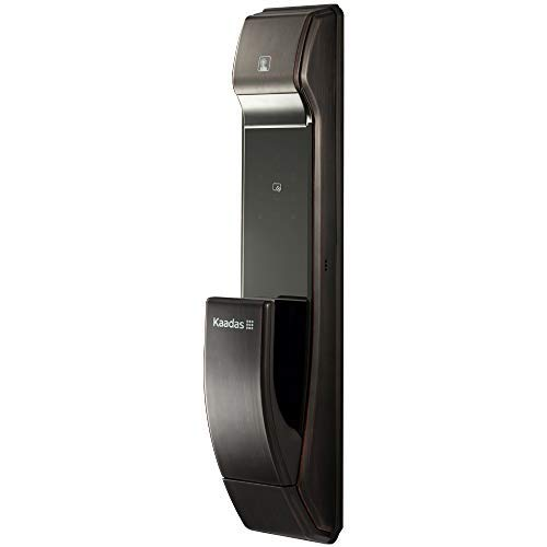 Kaadas K7-5 Push-Pull Keyless Smart Lock,Touch Pad,Fingerprint+Password+RFID+Key, Automatic Mortise (Dark Bronze)