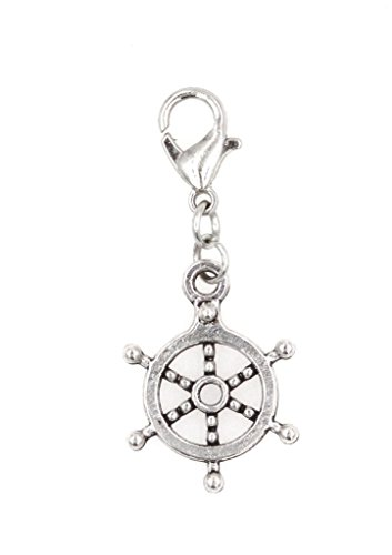 It's All About...You! Ships Wheel Clip on Charm Captains Wheel Perfect for Necklaces and Bracelets 94Aa
