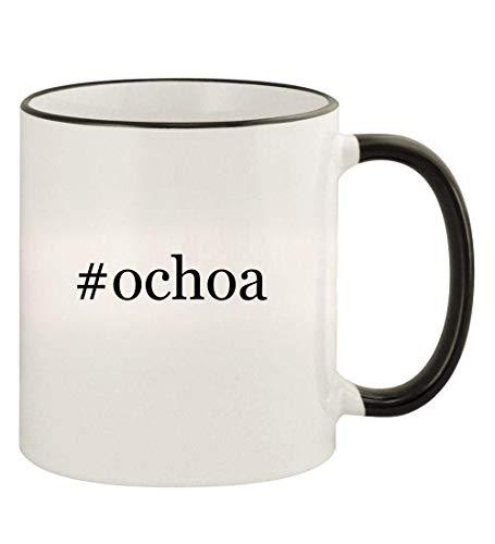 #ochoa - 11oz Hashtag Colored Rim and Handle Coffee Mug, Black