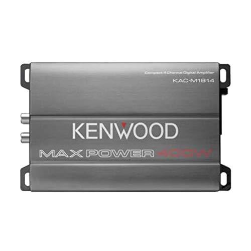 Kenwood KAC-M1814 4-Channel Compact Bridgeable Marine/Motorsports 400W Max Power Digital - Kenwood Amplifier Auto