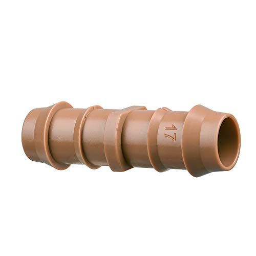 Arfun 20-Pack Drip Irrigation Barbed Coupling Fittings, Fits of 1/2
