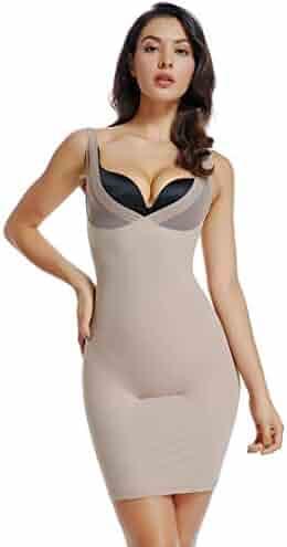 96803c99ef6 Full Slips for Women Under Dress High Waist Shapewear Tummy Control Waist  Girdle Body Shaper
