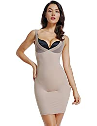 2c05aa550ca Full Slips for Women Under Dress High Waist Shapewear Tummy Control Waist  Girdle Body Shaper