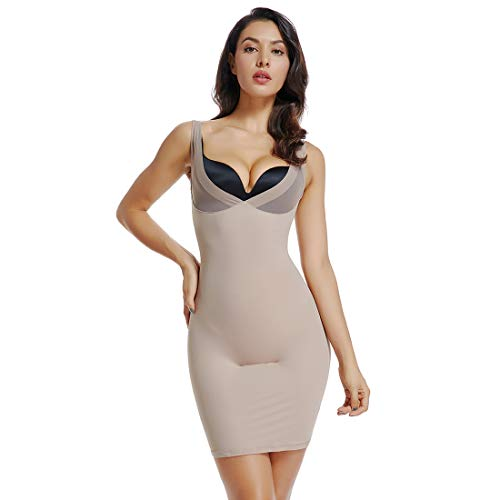 Full Slips for Women Under Dress High Waist Shapewear Tummy Control Waist Girdle Body Shaper (Nude-1, XL)