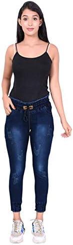 KUSHANJALI DESIGNERS Women's Slim Fit Joggers | Strechable Denim Jogger | Regular Fit Denim Jeans| High Waist Ankle Length Jeans for Girls