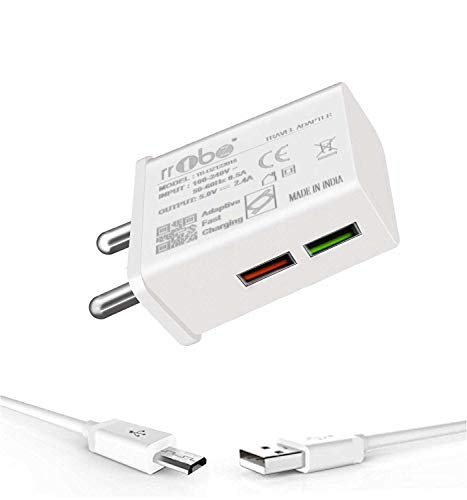 TBZ 2.4A Travel Mobile Charger with Micro USB Cable