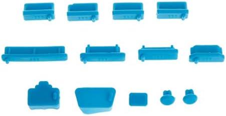 SimpleLife 13 Stück Anti-Staub-Stecker Weiche Silikon Datenport USB Protector Set Laptop Jacks Staubdichte Abdeckung Stopper Abdeckung PC Computer Notebook Zubehör