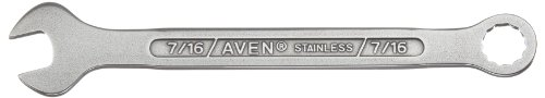 Aven 21187-0716 Stainless Steel Combination Wrench 7/16'', 6-1/16''L by Aven (Image #1)