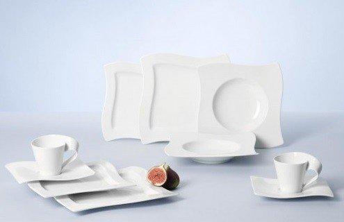 Villeroy & Boch New Wave 30-Piece Basic Dinnerware Set, White (30 Pieces Dinnerware Set)