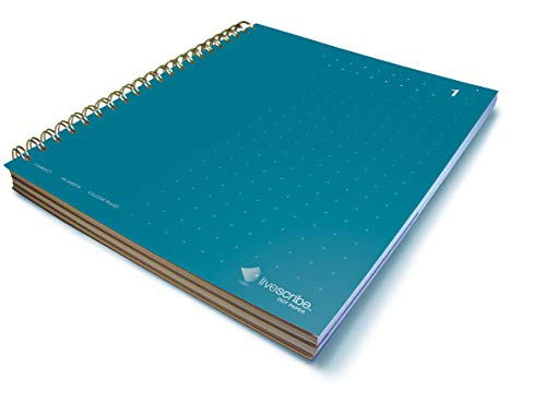 Livescribe 8.5 x 11 3-Subject Notebook #1, Blue