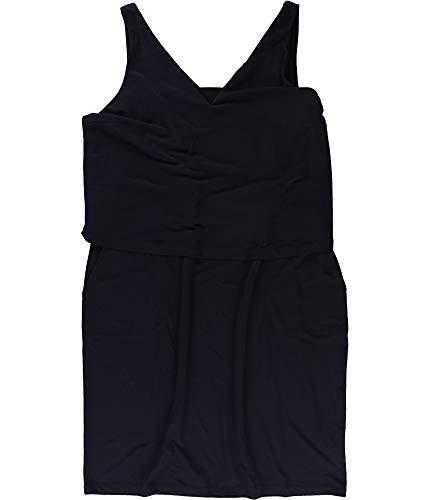 LAUREN RALPH LAUREN Womens Sleeveless Shift Midi Dress Navy M