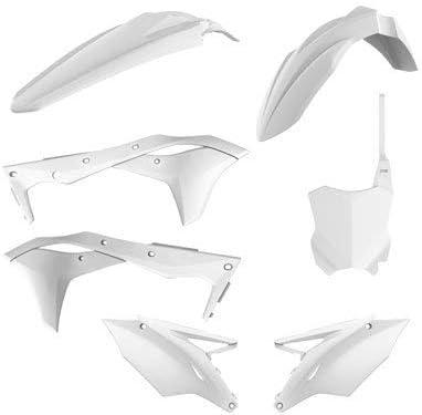 Polisport Complete Replica Plastic Kit White for Kawasaki KX250F 2017-2018