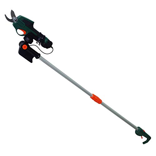 Scotts Outdoor Power Tools PR17216PS 7.2-Volt Lithium-Ion Cordless Rechargeable Power Pruner with Extension Pole, Green ()