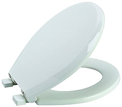 Premier Faucet 283030 Slow-Close, Round Plastic Toilet Seat, White