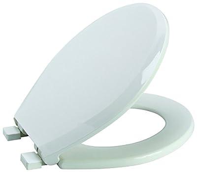 Premier Faucet 283030 Slow-Close, Round Plastic Toilet Seat, White