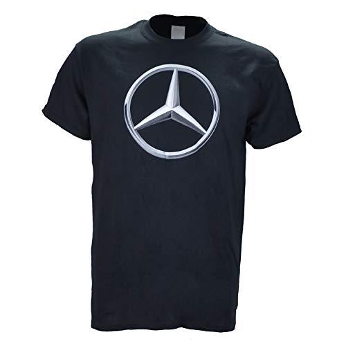 Mercedes Benz Logo on a Black T Shirt Small