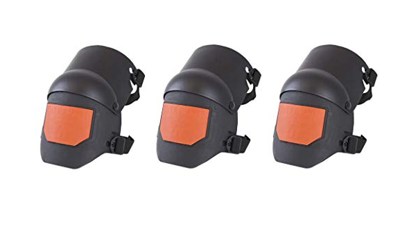 Four Pack Sellstrom S96211 KNEEPRO HYBRID GEL KNEEPADS PR BLACK//ORANGE Universal